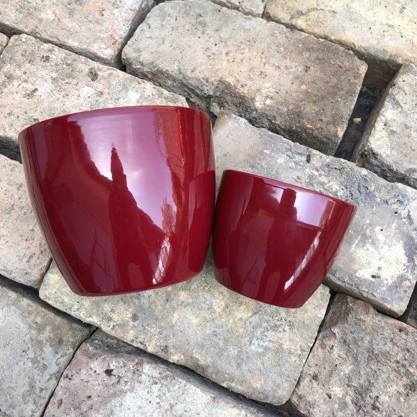 Kerámia kaspó bordó 11-15 cm