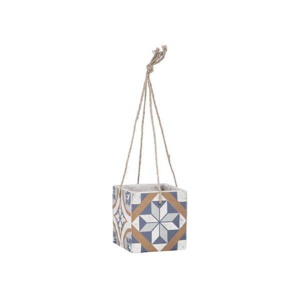 Mediterrán mozaik mintás függő virágcserép
