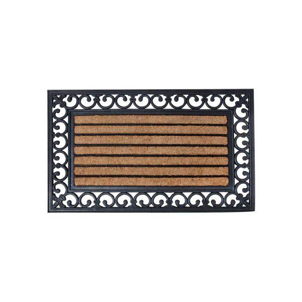 Téglalap alakú gumi-kókusz lábtörlő